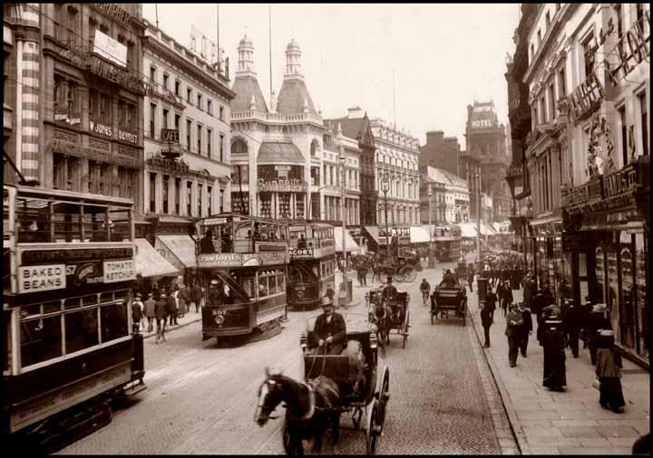 A picture of Lord Street Liverpool. This scene would be familar to my mother and father as children.