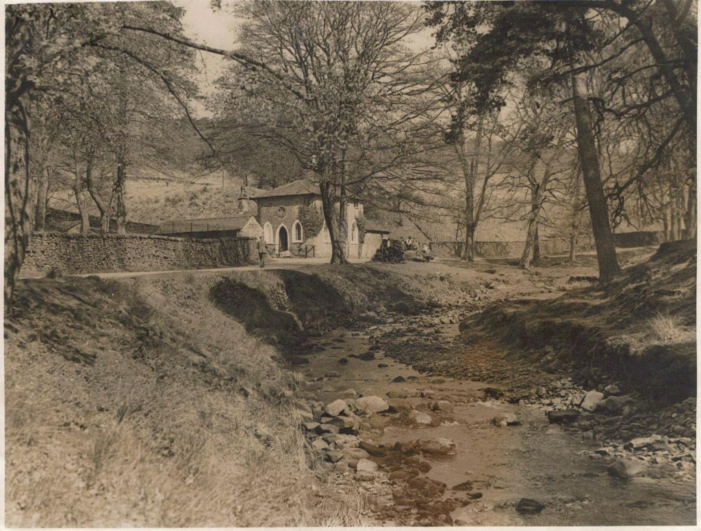 A picture of Lancaster Lodge, Abbeystead, next to the River Wyre.