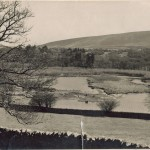 A picture of Abbeystead Reservoir where Jeanne Flann used to ice skate under winter moonlight with local children.
