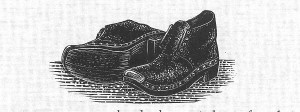 A representative pair of Wooden clogs, like the ones that I wore to work.